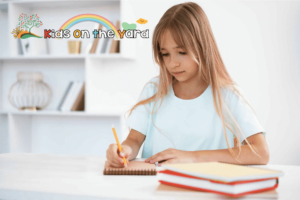 Teenage girl making notes in a notepad, doing homework at the table at home, Cognitive Learning, #CognitiveLearning, #homeschooling, Reading Comprehension